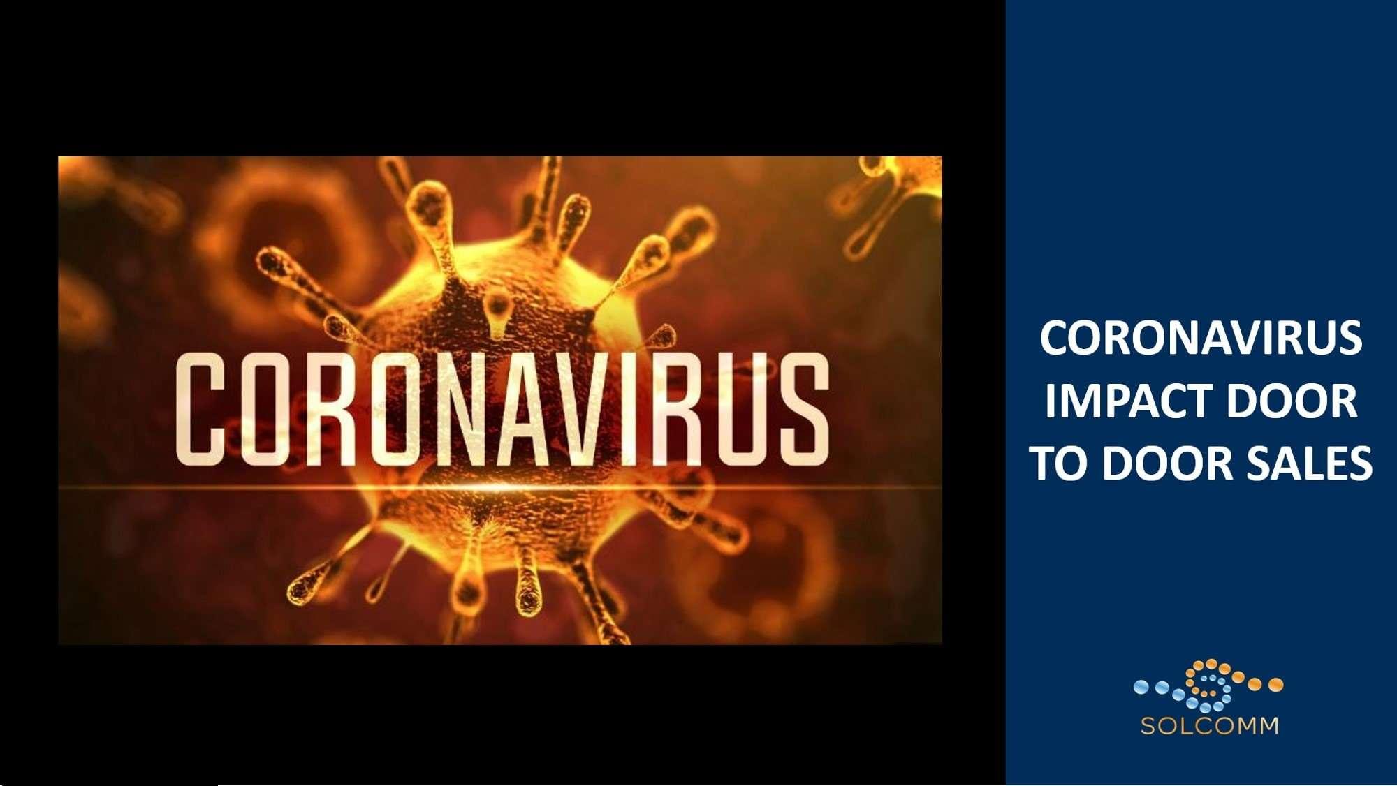 Coronavirus Impact Door to Door Sales